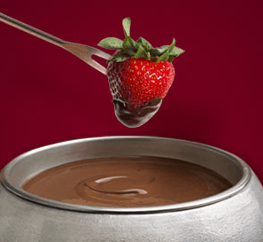 Use Wilton Fondue Chocolate Use 2-pound bag of easy-to-use fondue chocolate. Made from premium ingredients for superior melting and a delicious chocolate flavor, it's the ideal consistency for fountain and fondue use and is the perfect coating for dipped chocolate fountain treats like strawberries, brownies, marshmallows and much more.