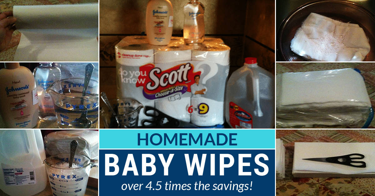 Homemade baby wipes are simple to make with supplies you likely already have at home. Making your own will save you 4.5 times too!