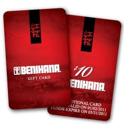 Benihana Gift Certificate – Gift Ftempo