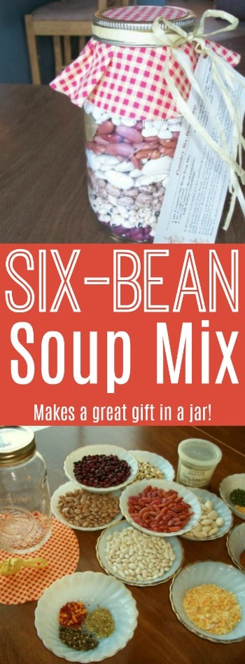This country six-bean soup mix tastes great, and makes the perfect gift in a jar!