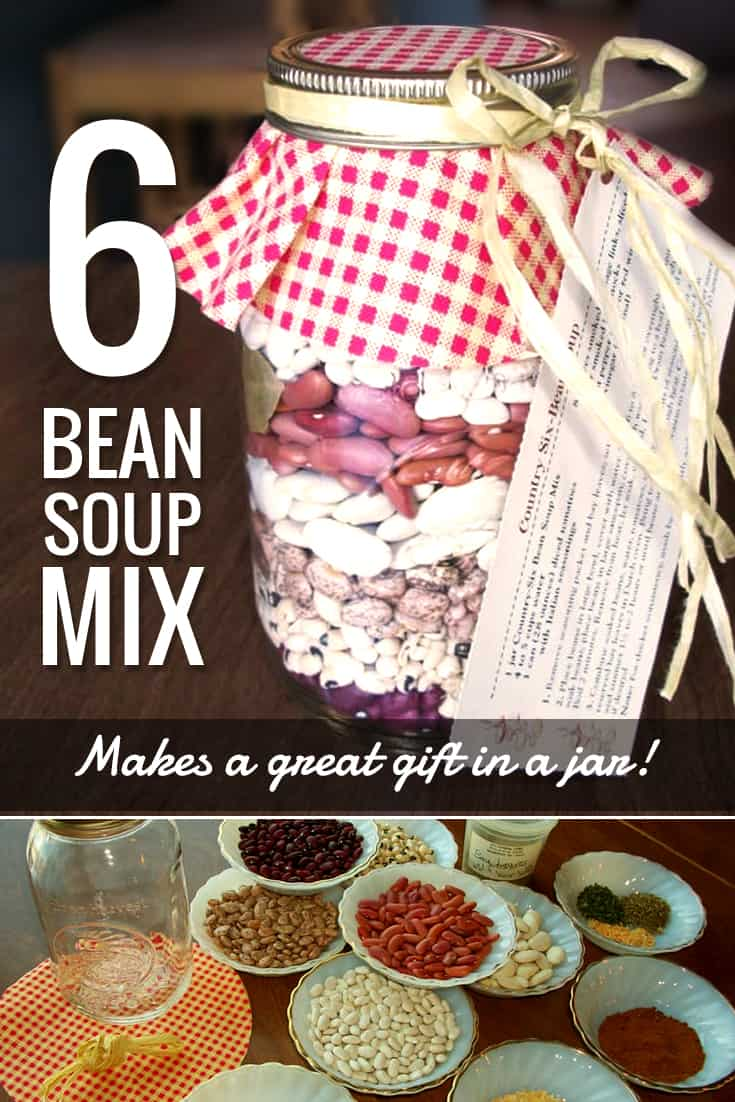 Gift in a Jar: Country Six Bean Soup Mix via @AndreaDeckard
