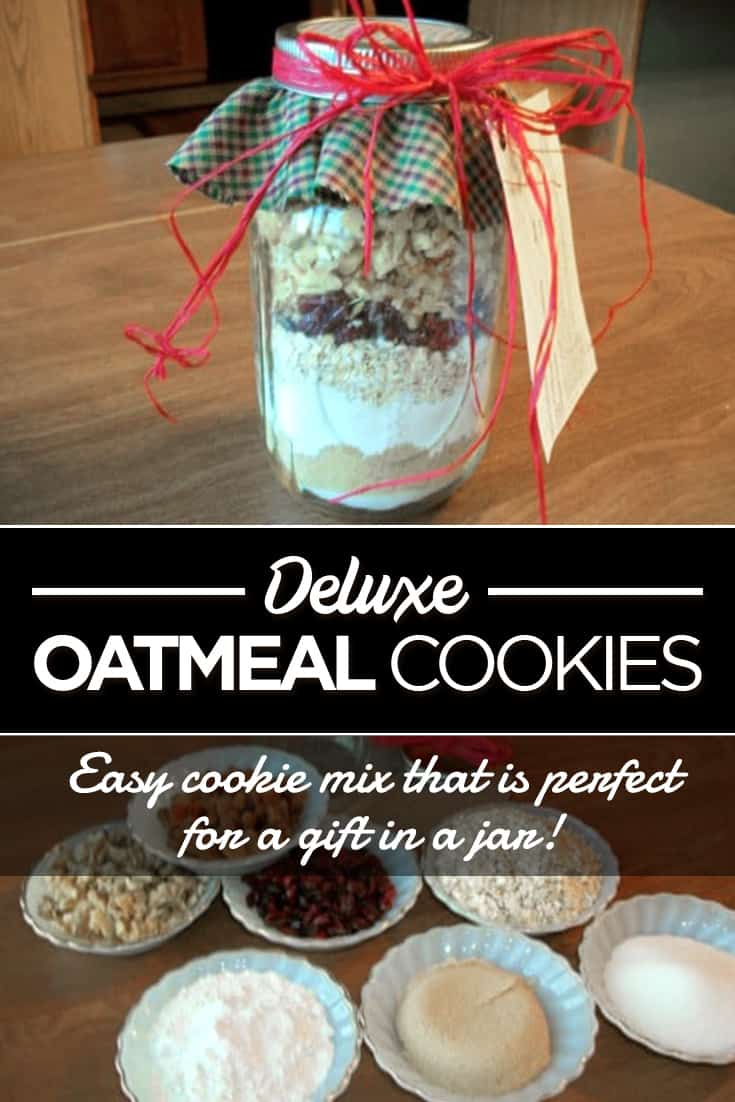 Gift in a Jar: Deluxe Oatmeal Cookies via @AndreaDeckard