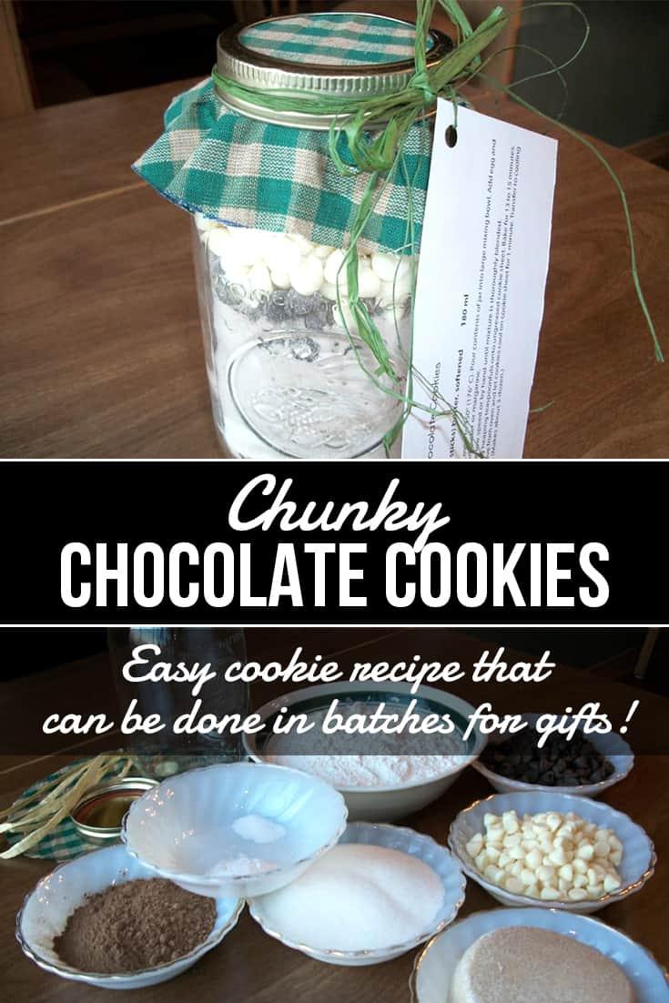 Gift in a Jar: Chunky Chocolate Cookies via @AndreaDeckard