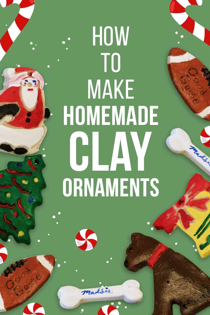 Check out this easy DIY for clay ornaments to brighten up your Christmas! Comes with a printable recipe card! via @AndreaDeckard