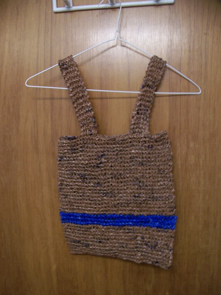 how to make reusable shopping bag with grocery bags. Black Bedroom Furniture Sets. Home Design Ideas
