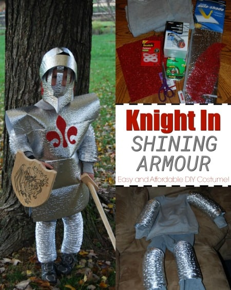 Get the EASY and affordable DIY costume instructions for a Knight In Shining Armour!