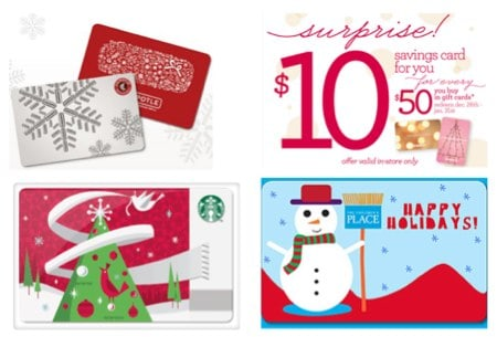 Retailer Christmas Gift Card Promotions