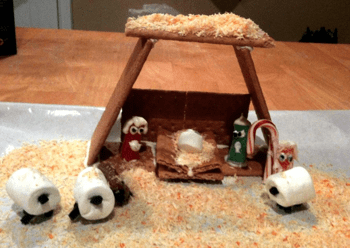 Nativity Gingerbread House