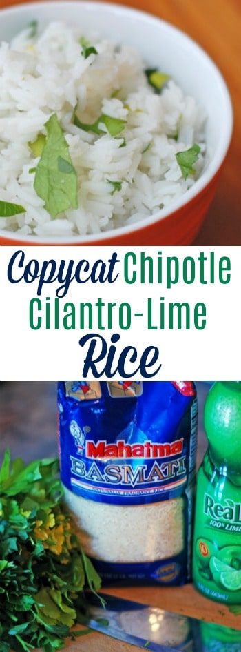 If you love the Cilantro-Lime Rice from Chipotle, you will LOVE this copycat recipe!