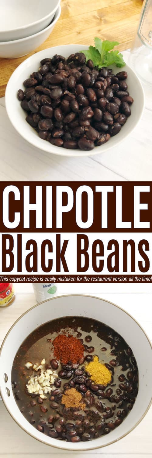 This Chipotle Black Bean copycat recipe tastes just like what you buy at the popular chain! It's one of our favorite copycat restaurant recipes