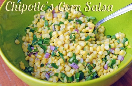 Make the Chipotle corn salsa and mild salsa at home for much less!