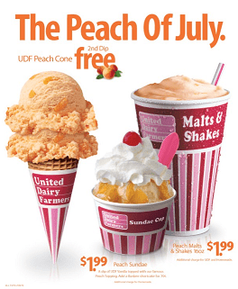 United Dairy Farmers Peach Deals For July 2012