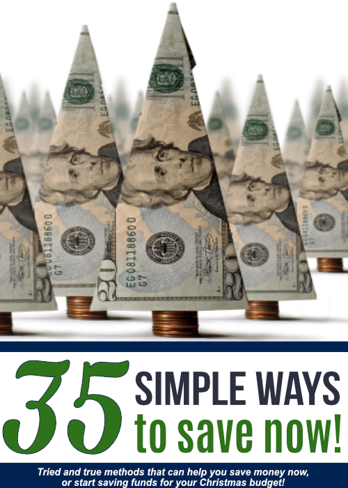 If you need to save money now, this list of 35 simple ways to save can help you get on the right track!