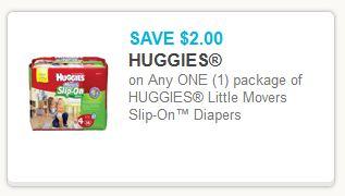 Huggies Slip On Diapers Coupon