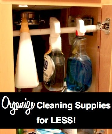 easy way to keep cleaning supplies organized