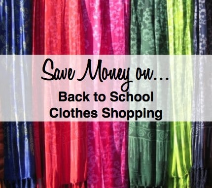 save money on back to school clothes shopping