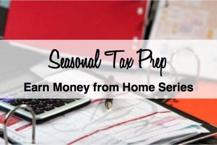 Earn income doing seasonal tax prep