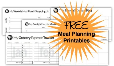 Free Menu Planning Printables Downloads