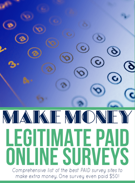 Looking for legitimate online survey companies that pay CASH? Look no further! There are my best PAID survey sites to make extra money - one company even offered $50 for ONE survey!