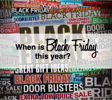 When is Black Friday this year?