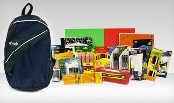Backpack or Messenger Bag with School Supplies