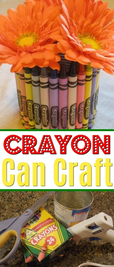 Use up worn down crayons and make this cute Crayon Can craft with the kids!