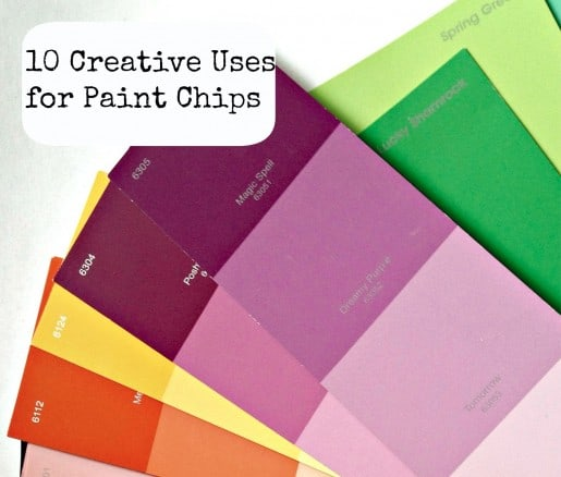 Creative Ways to Use Paint Chips