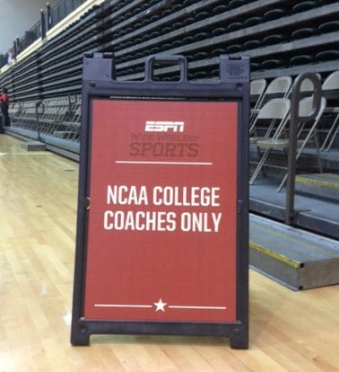 ESPN WWOS NCAA Coaches Seating