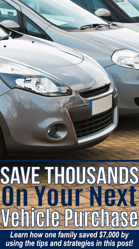 How to save money on your next new car purchase. By using these tips we saved $7,000 on our vehicle!