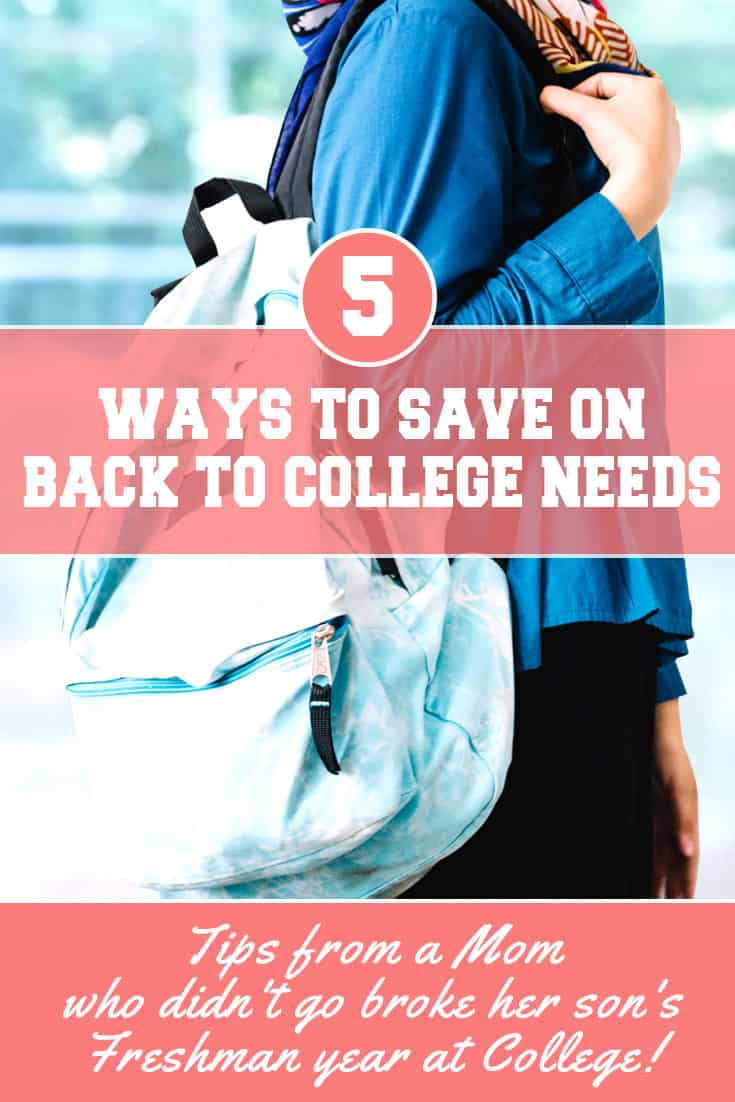 Practical ideas to save on college expenses from a mom who has been there, done that, and has a student with very few student loans to prove it!