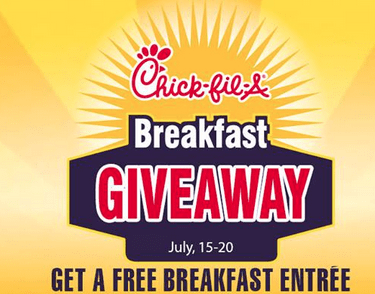 chickfila giveaway chick fil a deal reserve your free breakfast entree this 1386