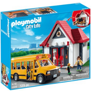 playmobil city life school set savings lifestyle. Black Bedroom Furniture Sets. Home Design Ideas