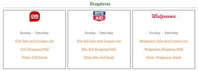 Drugstore Sales and Ads