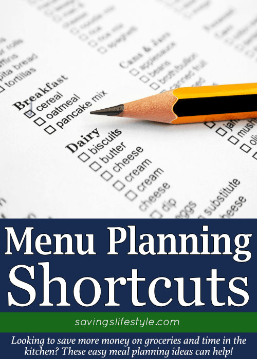 Simple meal plan shortcuts as you make an easy weekly meal plan or if you are a monthly meal planner. These meal planning ideas help prep meals for the week easily!