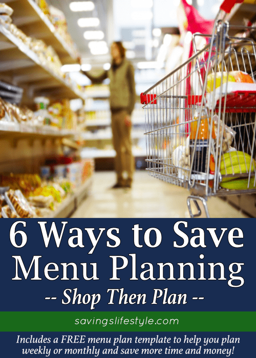 Learn how to make a meal plan to save more time and money! Create a simple meal plan with this FREE meal plan template to create a monthly or weekly family meal plan!