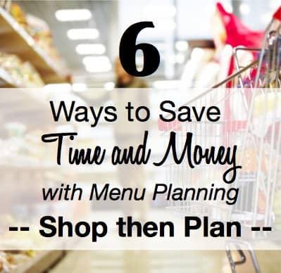 Menu Planning Shop then Plan