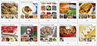 Recipe Boards on Pinterest