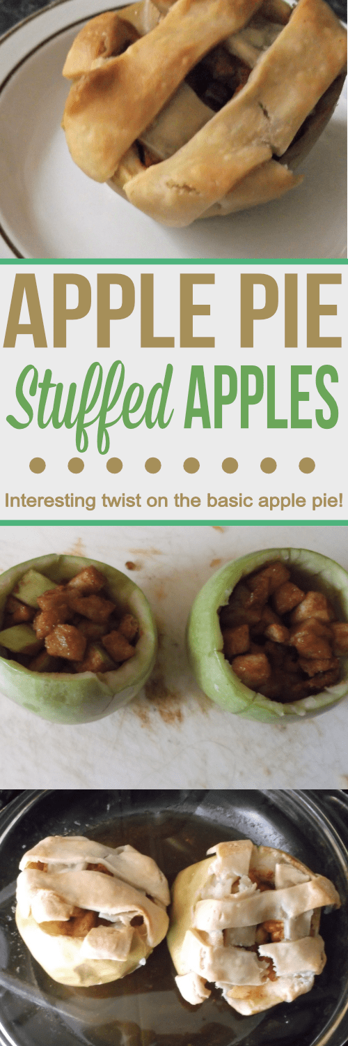 Try these Apple Pie stuffed apples for an interesting and delicious twist on the basic apple pie!