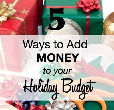 Earn Money for the Holidays
