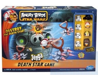 Angry Birds Star Wars Fighter Pods Jenga