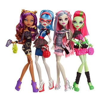 Monster High Ghouls_ Night Out Dolls, 4-Pack