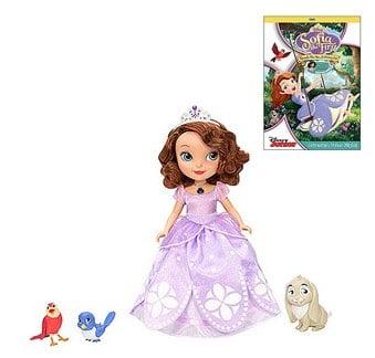 Sofia the First Talking Sofia Doll Play Set And DVD Bundle