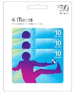 Apple iTunes $30 Multipack