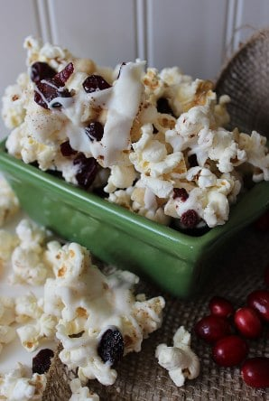 Cranberry Macadamia White Chocolate Popcorn Recipe