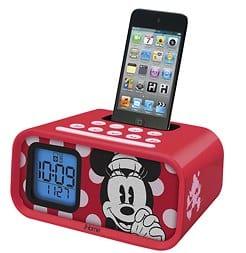 Disney Minnie Mouse Dual Alarm Clock Speaker System
