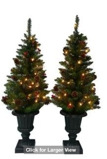 Martha Stewart Living 48 in. Artificial Entryway Tree with Berries and Pinecones