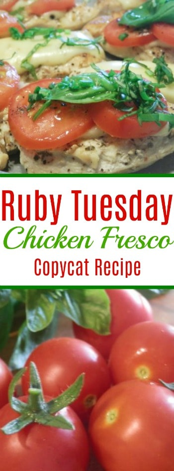 This Chicken Fresco copycat recipe inspired by Ruby Tuesday's dish is so easy and tastes just like the restaurant version!