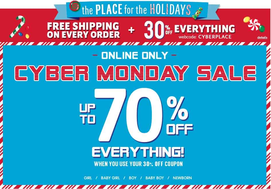 childrens place cyber monday coupon
