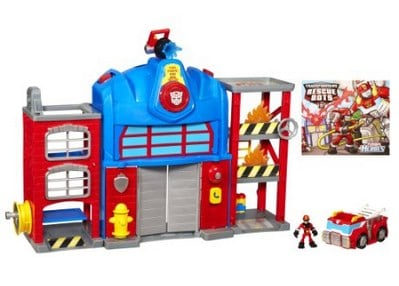 Transformers Rescue Bots Playskool Heroes Fire Station Prime_ Toys & Games