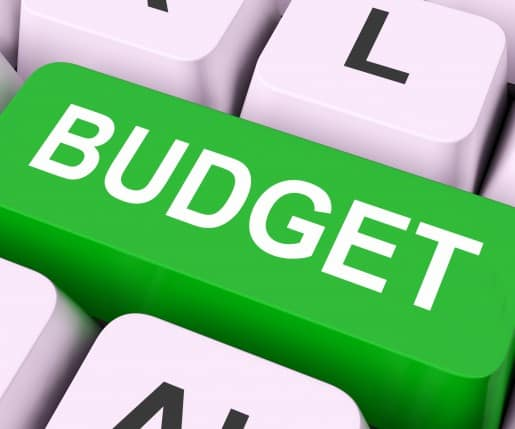 Budget Key Means Allowance Or Spending Plan